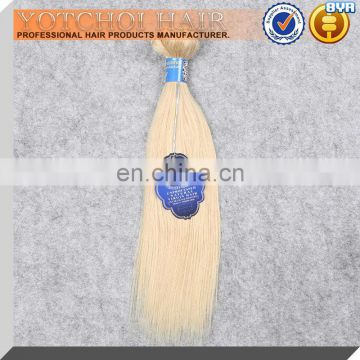 Hot! Grade 8A Double Drawn Silky Straight 613 Weave Blonde Hair Extensions