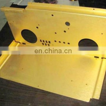 Custom Coating Services Steel Part with Yellow Powder Coat