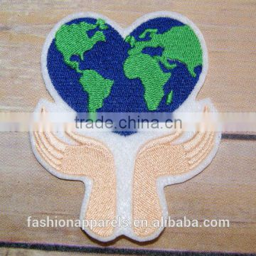 Custom high quality embroidered small patch for clothes embroidery patch made in china choose size/color