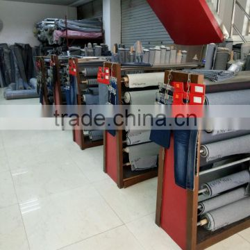 Enzyme wash Blue&Grey disdress jeans bamboo denim fabric for pants