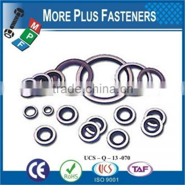 Made in Taiwan Bonded 18 8 Stainless Steel Flush Valve Base Metric Dowty Type Bonded Sealing Washer Steel