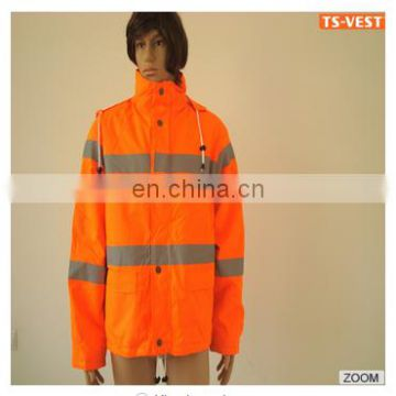 Safety reflective Rain coat Waterproof clothe