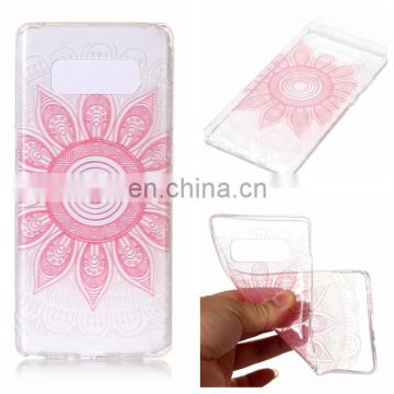 High quality Transparent Soft TPU Back Cover Case for Samsung Galaxy Note 8