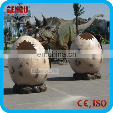 Amusement park decorations fiberglass dinosaur egg for sale