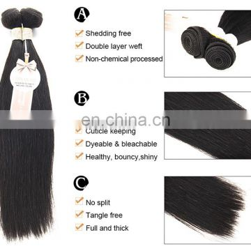100% virgin remy hair extension human hair Brazilian hair extension