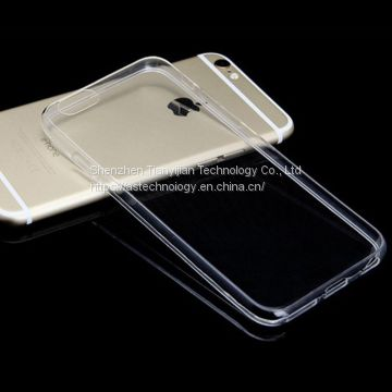 TPU clear phone case for iphone6, transparent phone case for iphone6 plus