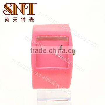 SNT-SI016 cheap silicone watch square silicone wristband watch