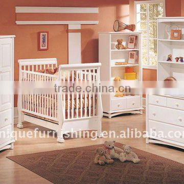 Wooden Baby Crib Baby Cot With Drawer Of Wooden Beds From China