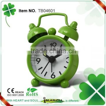 Mini metal twin bell & melody alarm clocks/Hot sale double bell alarm clocks for gifts
