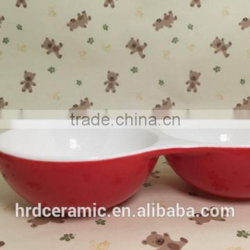 High quality grids plate ceramic fruit plate/grid plate/food dish