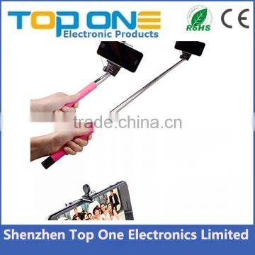 New products 2016 innovative product Cable Take Pole Selfie Stick