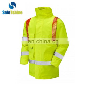 Wholesale best price reflective motorbike raincoat