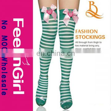 Wholesale Green White Stripe Compression Stocking
