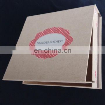 Clear design paper packing box with two pieces of magnet closure