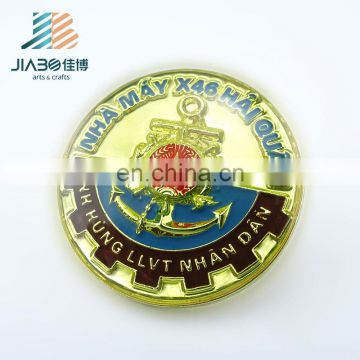 Jiabo custom made brass enamel pin button badge material
