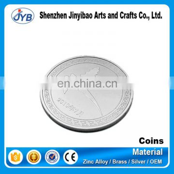 made aluminum metal coins custom blank engraved coin for awards