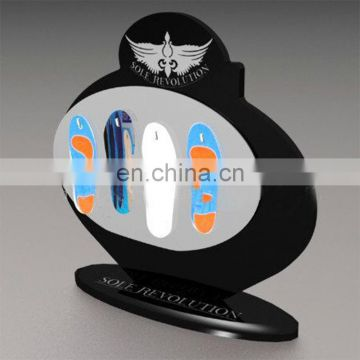Custom high end acrylic shoe insole display