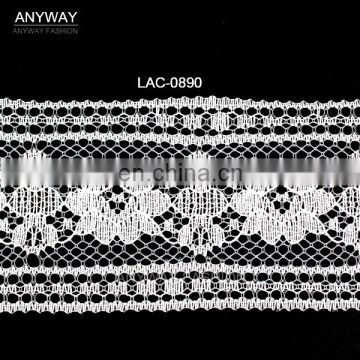 High quality china wholesale hot sale beautiful white floral lace for ladies