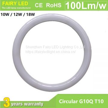 Circular G10Q T10 LED Tube Light 10W 12W 18W AC85-265V 3000-6500K Internal Driver PF>0.9 CRI>80 IP54 lifespan>50000hrs