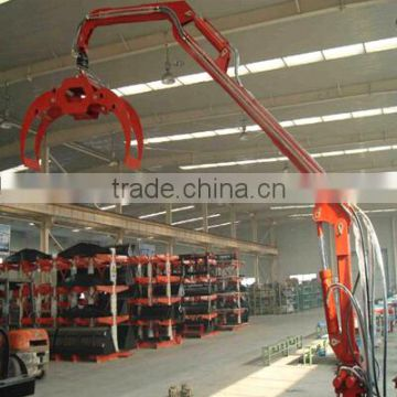 Good quality crane lifting machine hydraulic crane with grapple trailers