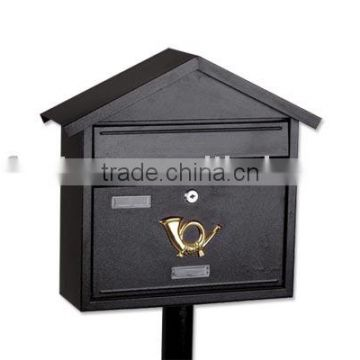 European style metal mailbox can be with stand