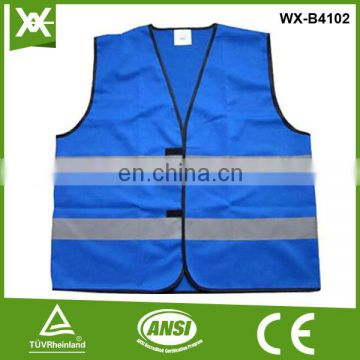 wholesale /factory made class2 tape high vis reflective blue hi viz vest