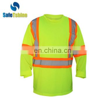 China professional manufacture reflective worker mens frees tshirt