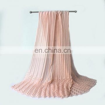 Single color plain pattern crinkled hijab scarf for ladies wholesale