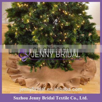 CTS023A wholesale new christmas burlap decoration ornament suppliers for tree skirt