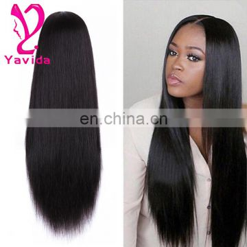 8-26inch Cheapest Full Lace Human Hair Wigs With baby hair Virgin Brazilian Straight Glueless Lace Front Wigs for black women