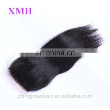 Silk and soft brazilian hair lace closure 100% human unprocessed brazilian hair closure