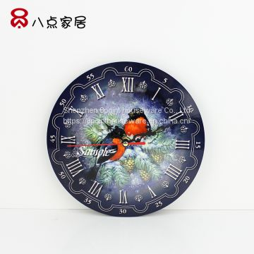 Creative digital wall hanging clock Sublimation MDF materials
