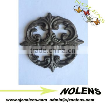 wrought iron window rosettes ornaments/wrought iron fence part rosettes high quality cast iron ornaments