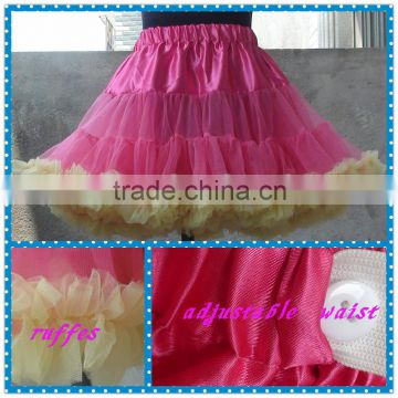 wholesale multi-colors adults fahsion Petticoat,boutique mother daughter rainbow dresses, holiday Crinoline Wedding underskirt                                                                         Quality Choice