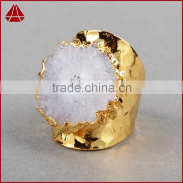 Rings Buy Fashion Solar Quartz Sun Flower Agate Druzy Ring Latest Gold Ring Designs For Girls Big Stone Ring Designs Woman Gold Ring Model On China Suppliers Mobile 105151271