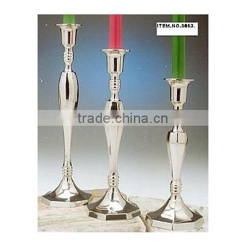 Silver plated Candle holder set of 3 piece