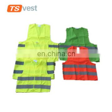 Colorful sanitation safety vest for roadway worker