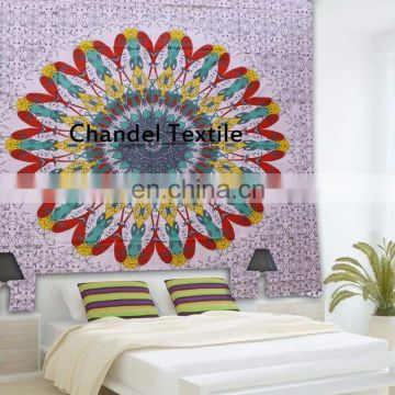 Mandala Tapestries Hippie art Tapestry Beach Throw Blanket Hippie New Queen Size Wall Hanging Wall ethnic art picnic Wholesale