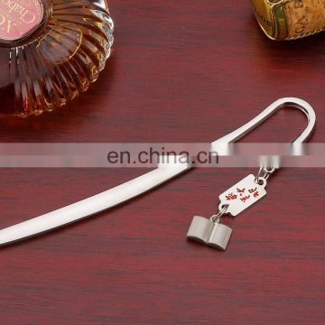 Custom metal fancy bookmark clip