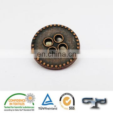 4 hole custom hollowed out metal alloy sewing buttons
