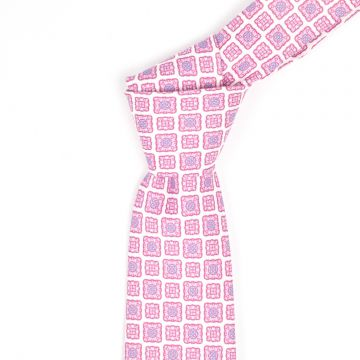 Pink Self-tipping Mens Jacquard Neckties Knit Digital Printing