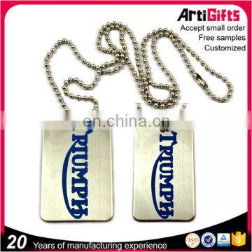 Wholesale souvenir customized couple military dog tags with engraved logo