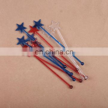 Customize gift colorful PS plastic clear cocktail stirrers