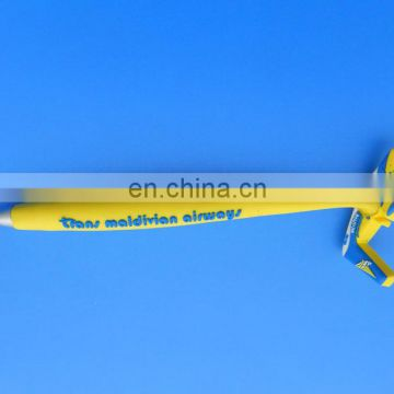 Novelty 3D Airplane Shaped Soft PVC Magnet Ballpoint Pen Promotional Gifts