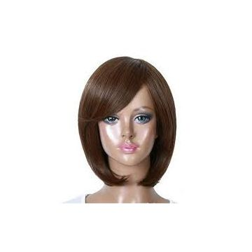 12 Inch Smooth Full Lace Human Long Lasting Hair Wigs Chocolate 10inch