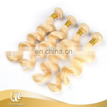 613# Blonde Color Virgin Human Loose Wave Remy Russian Hair Weave no shedding no tangle