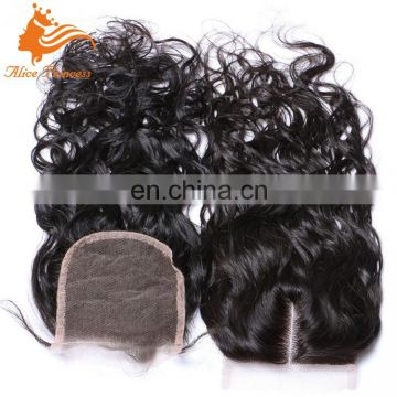 Fast Delivery Factory Sale Price Water Wave Virgin Human Hair Closure Piece Lace Closure
