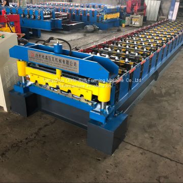 2019 Automatic 686 Metal Roof Trapezoidal Sheet Roll Forming Machine