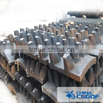 Double tooth roller crusher plate with high wear resistant alloy steel