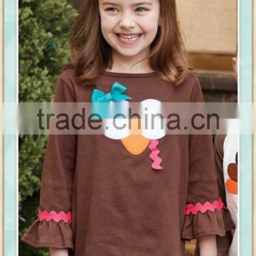 4f482ec1d0447 latest shirt designs for baby girl thanksgiving day boys t-shirt applique  turkey 2016 wholesale children's boutique clothing set of Baby t-shirts  from China ...